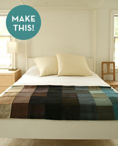 It's a picture of a wool felt patchwork blanket. Inspirational!