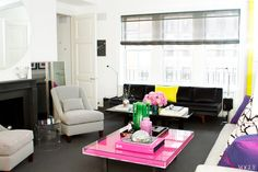 APT with LSD: Brett Heyman's Upper East Side Apartment - Culture - Music, Movies, Art, Profiles, and More. Pink coffee table.