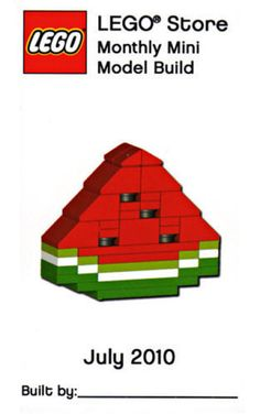 Lego Watermelon Parts & Instructions - July 2010 Monthly Mini Model Build