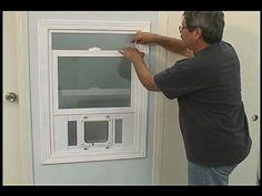 cat door made for windows