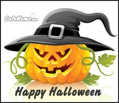 Happy Halloween Jack-o'-lantern Graphic plus many other high quality Graphics for your Facebook profile at CafeMoms.com.