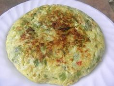 Tortilla de zapallitos verdes recipe step 2 photo Breakfast, Quiches, Pink, Recipes With Vegetables, Food Cakes, Soda, Pastries, Healthy Breakfasts, Eating Clean