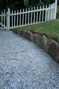 An easy simple rock border. Vista Landscape, Landscape Design, Rock Border, Gravel Path, Front Entry, Dream Garden, Farmer, Stepping Stones, Paths