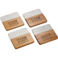 Brand these beautiful bamboo and marble coasters with your logo for your next event. On brand and on trend! Personalized Coasters, Custom Coasters, Change Logo, Swag Ideas, Marble Coasters, Branded Gifts, Brand Store, Free Logo, Round Corner