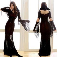 Carnival Halloween Costume Witch Costume Gothic Banshee Vampire Dress Costumes | eBay