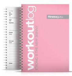 Workout log pink | Fitnessguru