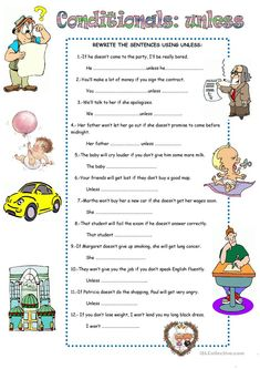 CONDITIONALS: UNLESS worksheet - Free ESL printable worksheets made by teachers