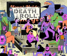 Skateboarding monsters, sci-fi snakes, and belligerent skeletons dominate illustrator John F. Malta's delightfully garish portfolio. His work is the kind you might expect to adorn a skateboard, yet Malta's grinning figures feature more often in the pages of The New York Times Magazine, The New Yorke