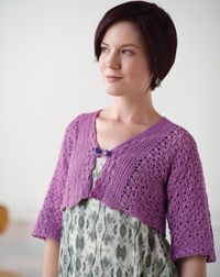 Sideways Cropped #Cardigan - A cropped #crochet sweater with a unique button closure.