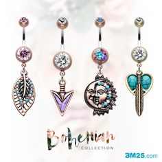Vintage Bohemian Belly Ring Collection at BM25.com