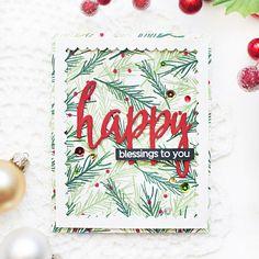 Altenew Poinsettia & Pine + Altenew Halftone Holiday - Mayholic Design