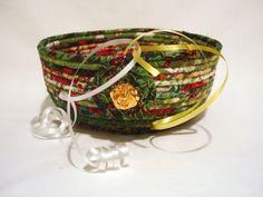 Coiled Fabric #Bowl in #Christmas Green by zizzybob on Etsy https://www.etsy.com/listing/169700908/coiled-fabric-bowl-in-christmas-green?ref=teams_post&utm_content=buffer3615d&utm_medium=social&utm_source=pinterest.com&utm_campaign=buffer #handmade #qqqetsy #etsyseller