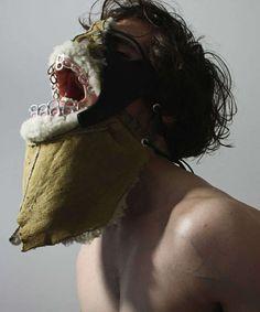 Mask made from rubbish by Shin Murayama.