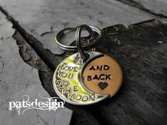 Moon Keychain by patsdesign on Etsy, $20.00
