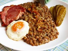 No Salt Recipes, Real Food Recipes, Czech Recipes, Weight Loss Smoothies, Good Food, Beef, Treats, Chic Peas, Lentils