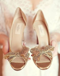 Valentino Gold Wedding shoes see more http://www.itakeyou.co.uk/wedding/gorgeous-wedding-shoes/  silver wedding shoes,gold wedding shoes,wedding shoes red,blue wedding shoes,bridal wedding shoes,elegant wedding shoes