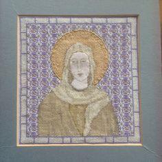Cross stitch madonna