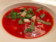 Tomaten-Mozzarella-Suppe, ein leckeres Rezept aus der Kategorie Käse. Bewertungen: 7. Durchschnitt: Ø 4,2.