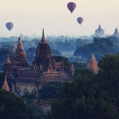 This journey over Bagan defines awe-inspiring—especially when the sun's golden rays light up the white surfaces of more than 4,000 pagodas and temples in what was the capital of the first Myanmar Empire. Photo courtesy of laceyuhle on Instagram.