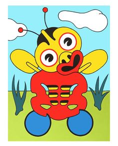 Buzzy Bee Tiki by Lester Hall for Sale - New Zealand Art Prints Bee News, Maori Patterns, Buzzy Bee, Tiki Art, New Zealand Art, Nz Art, Maori Art, Kiwiana, Sewing Art