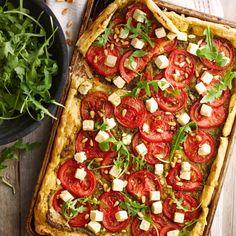 Tomatentaart met feta en pesto