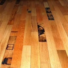 Reclaimed Whiskey Barrels Whiskey barrels get a second life when reclaimed to become oak flooring. This flooring's manufacturer, McKay, in the United Kingdom, carefully preserves the branded markings of sherry, whiskey, and bourbon that make this lumber so distinctive Whiskey Barrel Floor