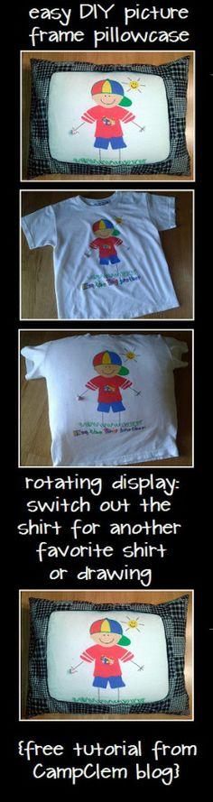 easy picture frame pillowcase shirt tutorial