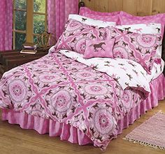 Pink Pony Bandana Horse Print Queen Comforter Set (8 Piece Bed In A Bag) Country Living http://www.amazon.com/dp/B00OJQ3EJ0/ref=cm_sw_r_pi_dp_bLLdvb03WTJ90
