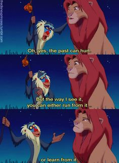 Rafiki is wise, and I hope I can instill this knowledge into Adam and I hope this message has come across.