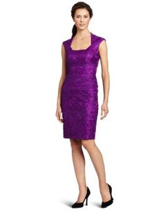 Jax Women's Lace Dress With Cap Sleeve: Clothing #dress #women #fashion #amazon