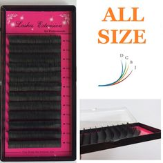 すべてのサイズj、b、c、d (8/10/12/14ミリメートル)個別の絹まつげ、フレアeyealshes、個別eyealshes、つけまつげ、ソフト黒