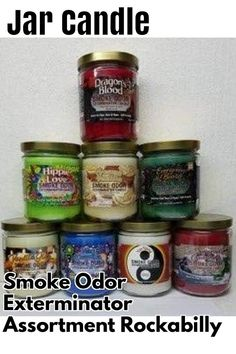(This is an affiliate pin) Smoke Odor Exterminator 13 oz Jar Candles Dragon's Blood Assortment, (8) Includes Yin Yang, Evergreen & Berries, Vanilla Glitz, Sugared Cranberry, Nag Champa, Hippie Love & Creamy Vanilla. Sugared Cranberries, Hippie Love, Yin Yang, Coffee Cans, Candle Jars, Blood, Vanilla, Evergreen, Smoke