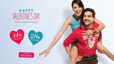 """#MYDiscountOffer :Shop for You OR your Valentine and get a Flat discount of 14%. Shop for both and get 28% OFF. Use coupon code """"VALENTINE"""". Hurry!"""
