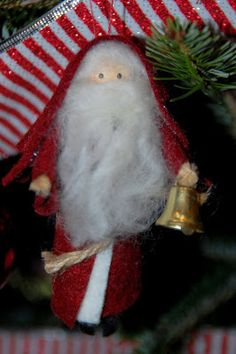 amazing mae: old fashioned santa ornament tutorial