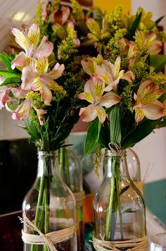 ideias de decoração para festas com garrafas - Pesquisa Google