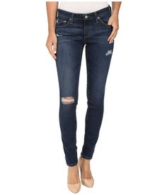 AG Adriano Goldschmied Women's Legging Ankle Jean, Eight Years Wander, 30. Fun authentic desconstructed wash. Soft worn in denim with great Stretchability.