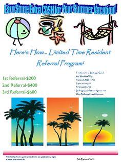 resident referral flyer apartment marketing ideas pinterest