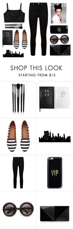 """""""The Best things in life are free, but the second best things are very expensive..."""" by littlemisscupcake88 ❤ liked on Polyvore featuring Illamasqua, Sloane Stationery, H&M, Paige Denim, Casetify, UN United Nude and black"""