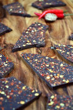 chilli dark chocolate bark