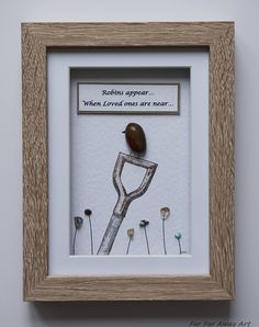 Pebble Art by Rebecca Kate. Far Far Away Art, Etsy. Robin Picture, Remembrance Gift, Robins appear.