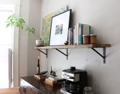 Things Are Looking Up: Installing Our Exposed Wood Kitchen Shelf | 17 Apart