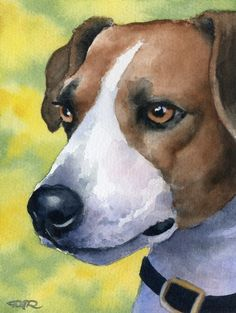 JACK RUSSELL TERRIER Dog Watercolor Art Print Signed by Artist D J Rogers