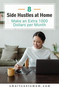 I have found 8 easy side jobs from home that will make you 1000 dollars or more per month! These high paying side hustles are legit jobs, and are REAL ways you can earn money online and work from anywhere.   Smart Cents Mom Earn Extra Income, Earn Extra Cash, Extra Money, Work From Home Jobs, Make Money From Home, Way To Make Money, Online Side Jobs, Best Online Jobs, Money Matters