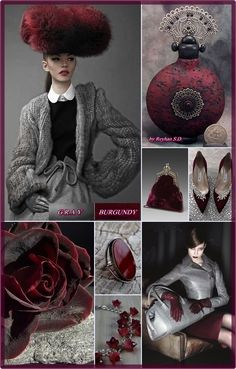 '' Burgundy & Gray '' by Reyhan Seran Dursun