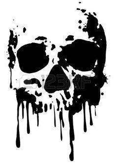 Vector Illustration of Abstract vector illustration grunge skull vector art, clipart and stock vectors. Image of Abstract vector illustration grunge skull vector art, clipart and stock vectors. Skull Stencil, Stencil Art, Stenciling, Stencil Graffiti, Stencil Patterns, Henna Patterns, Skull Silhouette, Totenkopf Tattoos, Skull Artwork