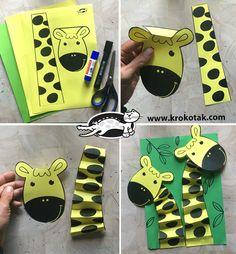 Animal Crafts For Kids, Paper Crafts For Kids, Craft Activities For Kids, Fun Crafts, Art For Kids, Giraffe Crafts, Art Drawings For Kids, Art N Craft, Spring Crafts