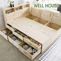 Magnificent Bedlinen Ideas Info: 4131879264 - home/home Pallet Furniture, Furniture Projects, Furniture Plans, Wood Projects, Furniture Storage, Furniture Design, Antique Furniture, Bed Frame With Storage, Diy Bed Frame