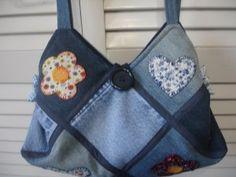 kot pantolondan pratik çanta yapımı