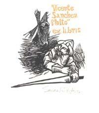 Cervantes exlibris Dom Quixote, Book Lovers, Books, Movie Posters, Image, Art, Stains, Livros, Film Poster