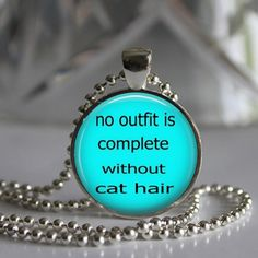 No Outfit is Complete Without Cat Hair Pendant Necklace